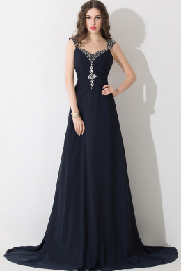A-Line/Princess Sweehtheart Neckline  Sweep Train Elastic Satin Evening Dresses With Applique