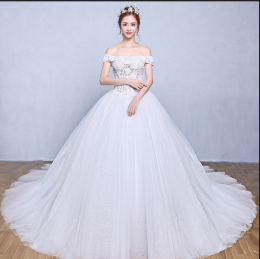 Ball Gown Tulle Chapel Train Wedding Dresses Designs