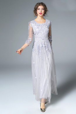 A-Line/Princess Tulle Ankle-Length Guest Wedding Dresses for Fall