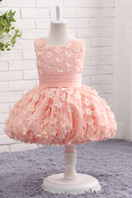 A-Line/Princess Tulle Short/Mini Little Girl Bridal Dresses