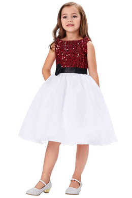 A-Line/Princess Chiffon Knee-Length Flower Girl Dresses for Girls