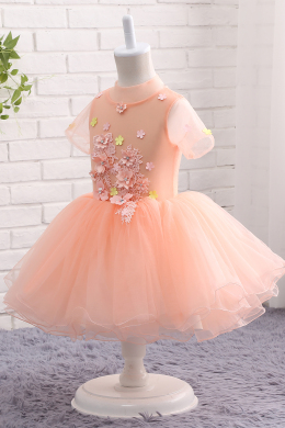 A-Line/Princess Tulle Ankle-Length Girls Dresses for a Wedding