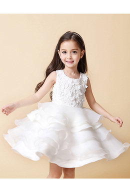 A-Line/Princess Chiffon Short/Mini Pretty Flower Girl Dress
