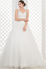 Ball Gown Sweetheart Floor Length Tulle Wedding Dress with Appliques