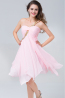 A-Line/Princess Sweetheart Short Chiffon Cocktail Dresses With Pleats