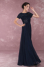 A-Line/Princess Chiffon Floor Length Navy Bridesmaid Dresses