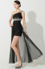 A-Line/Princess One-Shoulder Floor Length Chiffon Prom Dress with Beadings