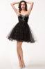 A-Line/Princess Sweetheart Neckline Short/Mini Tulle Cocktail Dresses with Applique