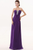 A-Line/Princess Sweetheart Neckline Floor Length Chiffon Prom Dress with Beaded