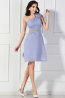 A-Line/Princess One-Shoulder Mini Length Chiffon Cocktail Dress with Flower