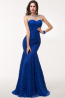 Sheath/Column Jewel Neck Floor Length Lace Evening Dress with Beads