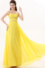 A-Line/Princess Strapless Floor Length Chiffon Prom Dress with Beadings