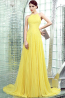 A-Line/Princess Jewel Neck Floor Length Chiffon Prom Dress with Pleats