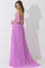 A-Line/Princess Strapless Floor-Length Chiffon Bridesmaid Dress with Pleats