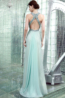 A-Line/Princess Halter Floor Length Chiffon Prom Dresses with Diamond