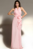 A-Line/Princess Halter Floor Length Chiffon Prom Dresses with Ruffle