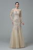 Sheath/Column Tulle Floor-Length Bridal Mother of the Groom Dresses