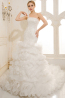 Trumpet/Mermaid Spaghetti Court Train Tulle Wedding Dress With Applique