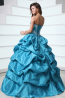 Ball Gown Strapless Floor Length Taffeta Quinceanera Dress with  Embroidery