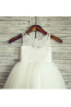 A-Line/Princess Lace Knee Length Childrens Flower Girl Dress