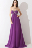 A-Line/Princess Strapless Sweep Train  Chiffon Prom Dresses With Applique