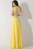 A-Line/Princess One-Shoulder Floor Length Chiffon Bridesmaid Dress with Beads