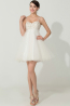 A-Line/Princess Sweetheart Neckline Mini-Length Tulle Cocktail Dress with  Embroidery