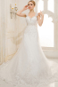 A-Line/Sheath Spaghetti Court Train Tulle Wedding Dresses With Applique