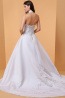A-Line/Princess Halter Court Train Elastic Satin Wedding Dresses with Applique