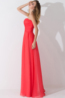 A-Line/Princess Strapless Floor Length Chiffon Bridesmaid Dresses With Applique