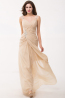 A-Line Spaghetti Straps Floor Length Chiffon Prom Dress with Pleated