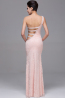 Trumpet/Mermaid Sweetheart Floor Length Elastic Satin Prom Dress With Pleats