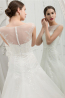 A-Line/Princess Sweetheart Sweep Train Tulle Wedding Dress with Appliques