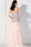Sheath/Column Strapless Floor Length Chiffom Prom Dress with Beads