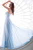 A-Line/Princess Strapless Floor-Length Chiffon Prom Dress with  Embroidery