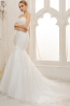 Trumpet/Mermaid Sweetheart Court Train Tulle Wedding Dress With Applique