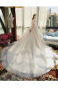 Ball Gown Tulle Chapel Train Designs for Wedding Dresses