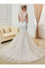 Trumpet/Mermaid Tulle Sweep Train Famous Wedding Dress Designers