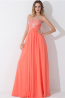A-Line/Princess Strapless Floor-Length Chiffon Bridesmaid Dress with Beads