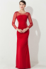 Sheath/Column Scoop Neck Floor Length Elastic Satin Evening Dress with Pleats