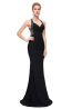Sheath/Column Elastic Satin Sweep Train Womens Formal Evening Dresses