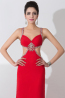 Sheath/Column Spaghetti Straps Floor Length Elastic Satin Evening Dress with Beads