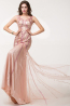 Sheath/Column Sweetheart Floor Length Tulle Evening Dress with Sequins