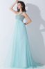 A-Line/Princess Sweetheart Floor Length Chiffon Prom Dress with Beadings