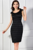 Sheath/Column Scoop Neck Knee Length Mother of the Bride Dress with Pleats