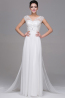 A-Line/Princess V-Neck Floor Length Chiffon Prom Dress with Beads