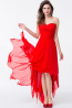 A-Line/Princess Sweetheart Hi-Lo Chiffon Bridesmaid Dresses With Pleats