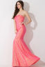 Sheath/Column Strapless Floor Length Sequined Evening Dress with Beads