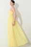A-Line/Princess Strapless Floor Length Chiffon Prom Dresses with Beads