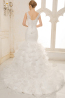 Trumpet/Mermaid Spaghetti Court Train Tulle Wedding Dress With Pleats